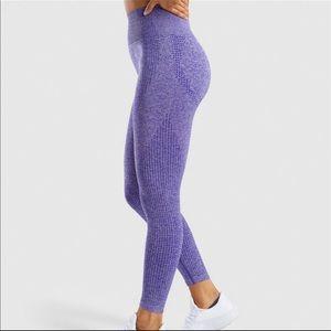 Unbranded Pants - Purple High Waist Control Fitness Leggings